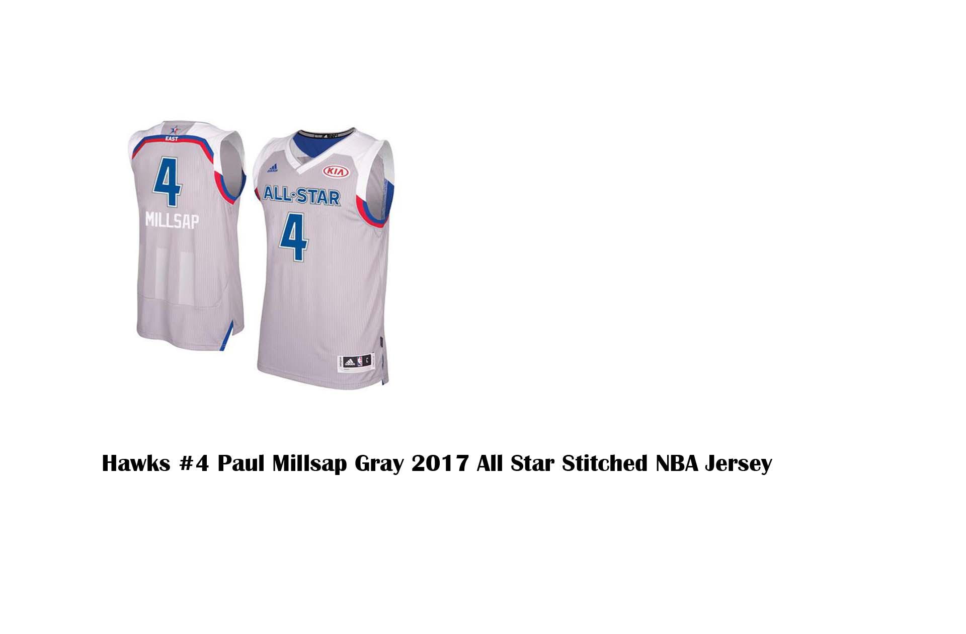 685765d6ed42 Hawks  4 Paul Millsap Gray 2017 All Star Stitched NBA Jersey ...